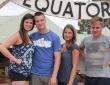 Beim Überqueren des Äquators