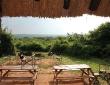 Der Blick von der Red Chili Lodge in die Weite Afrikas
